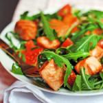 Калорийность продуктов, возможных в составе рецепта Салат с авокадо семгой и помидорами