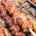 Рецепт шашлыка из говядины на сковороде