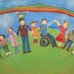 В Кара-Куле прошла выставка рисунков детей-инвалидов